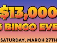 Score big in Bingo Spirit $13,000 Big Bingo Event!