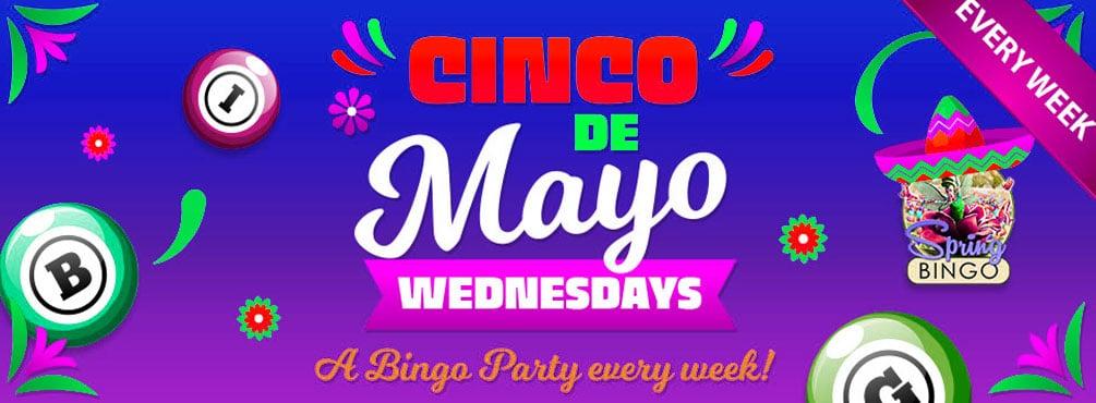 Grab some big wins on Cinco de Mayo Bingo Wednesdays!