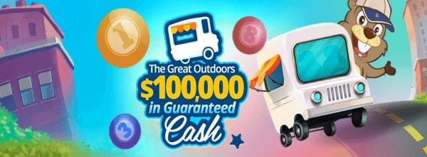 The Great Outdoors with Over $100,000 in Guaranteed Cash at Canadian Dollar Bingo