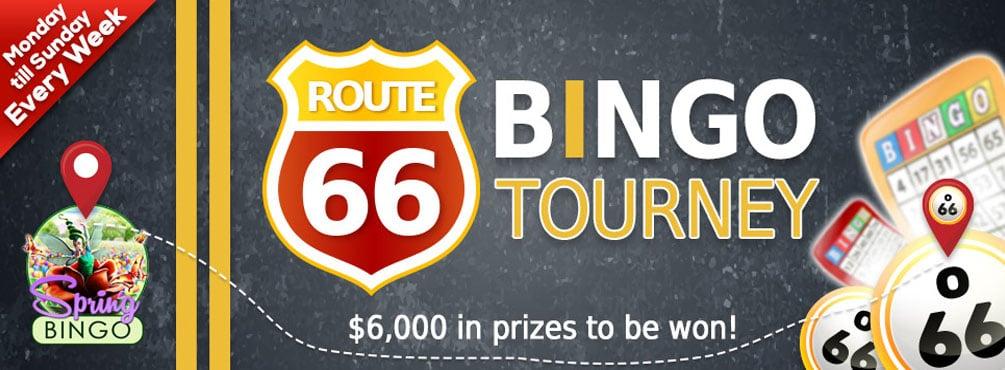 Route 66 Bingo Tourney – Win $2,500.00 cash at Bingo Spirit