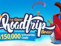 Great Road Trip Bingo with $150,000 in GUARANTEED Cash at Amigo Bingo!