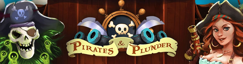 10 Free Spins in the Pirates and Plunder slot machine