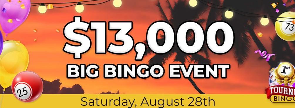$10,000 in Cyber Bingo August BINGO Event of the month