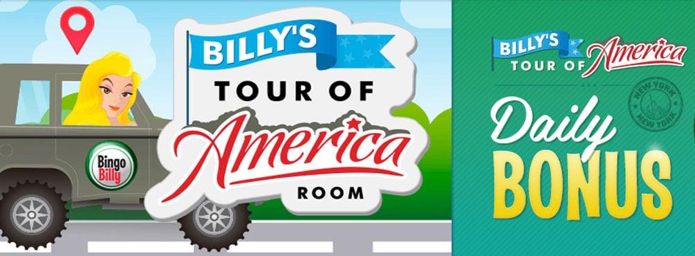 Activate Bingo Billy the Tour of America Bingo Room in August