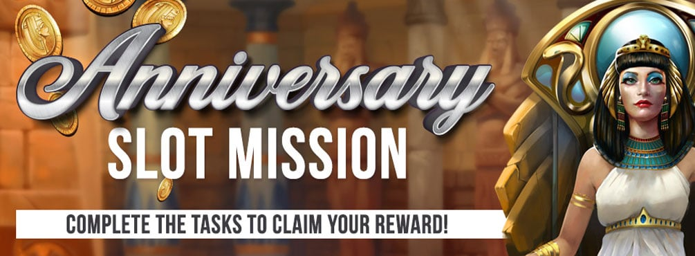 Challenge yourself in the Anniversary Slot Mission this August at Bingo Spirit