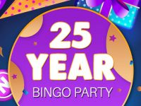 Get your 25-Year BINGO Party cards today at Bingo Fest!
