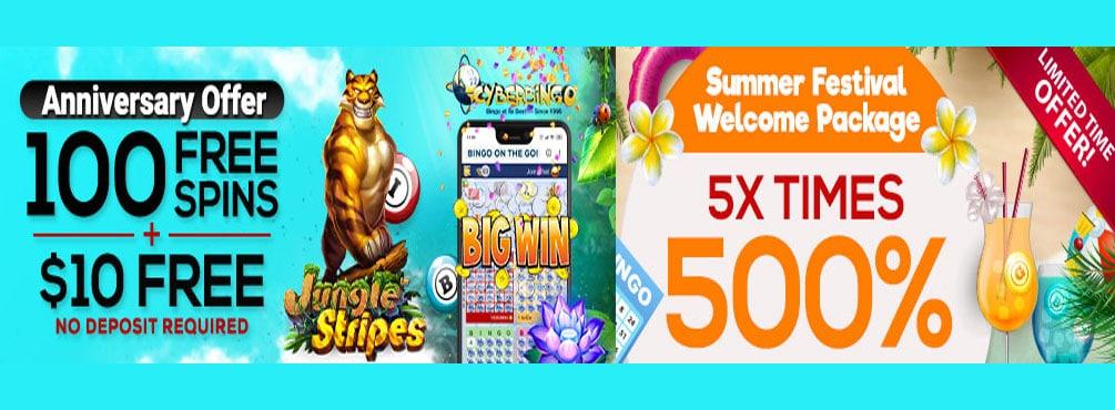 The weekly Bingo Academy Tourney offers thrilling bingo action at Cyber Bingo