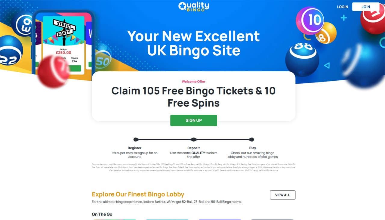 Quality Bingo website